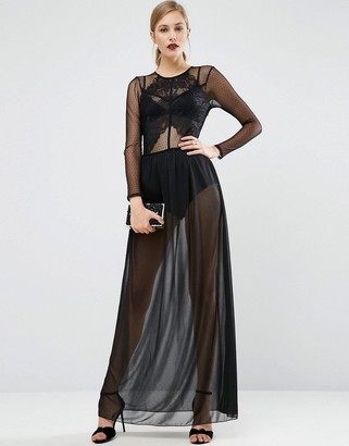 ASOS Lace Top Dobby Maxi Dress $83 thestylecure.com