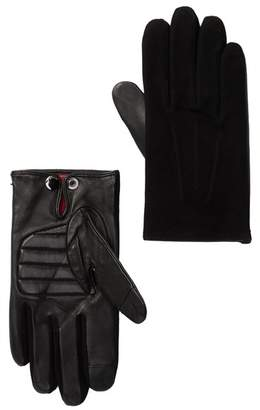 BOSS Suede Leather Cashmere Lined Gloves
