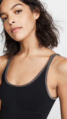 Alexander Wang Scoop Neck Tank with Ballchain Trim