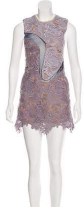 Self-Portrait Embellished Mini Dress