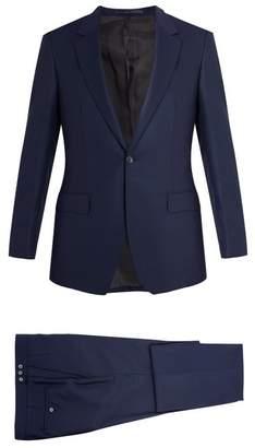 Kilgour Single Breasted Wool Crepe Suit - Mens - Navy