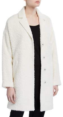 Eileen Fisher Oversized Curly Alpaca Coat