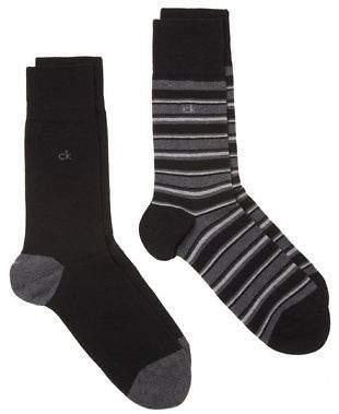 Calvin Klein New Mens Black Lorenz Cotton/Polyamide Socks Fashion