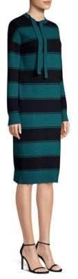 Marc Jacobs Tie-Neck Stripe Dress