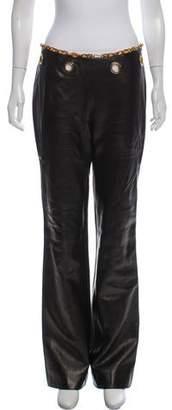 Celine Mid-Rise Leather Pants