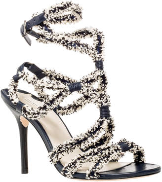 Max Studio savant : fringed ribbon strappy high heel sandals