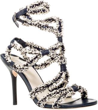 Max Studio savant : fringed ribbon strappy high heel sandals