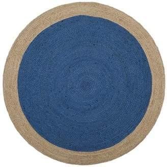 Beachcrest Home Cayla Fiber Hand-Woven Royal Blue/Natural Area Rug