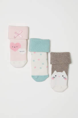 H&M 3-pack Socks - White