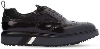 Prada Opposite Brogue Leather Oxford Shoes