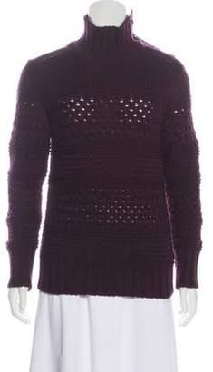 Belstaff Turtleneck Wool Sweater Plum Turtleneck Wool Sweater