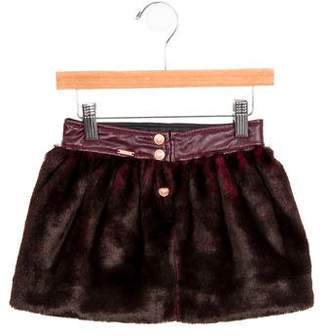 Junior Gaultier Girls' Faux Fur Mini Skirt w/ Tags