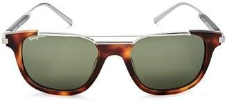 Salvatore Ferragamo Men's Top Bar Square Sunglasses, 52mm
