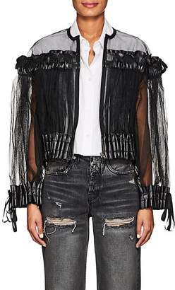 Noir Kei Ninomiya Women's Smocked Tulle Collarless Jacket