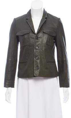 Zadig & Voltaire Button-Up Leather Jacket