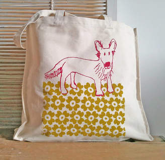 Quietly Eccentric Dog Canvas Shopper