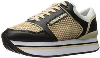 Armani Jeans Women's Double Decker Sneaker Fashion