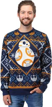Star Wars Mad Engine BB8 Navy Ugly Christmas Sweater 2X