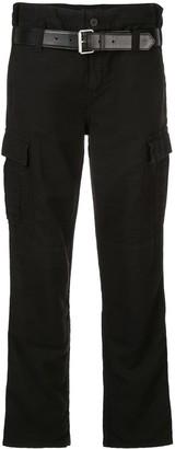 RtA high-waist front belt pants