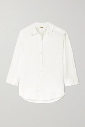 L'Agence Jil Silk-satin Shirt - Ivory