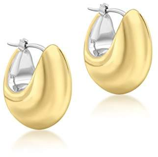 At Co Uk Carissima Gold Women S 9 Ct 375 Two Tone 17 X 20 Mm
