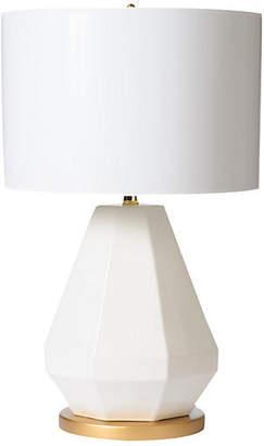 Barbara Cosgrove Jewel-Cut Table Lamp - White