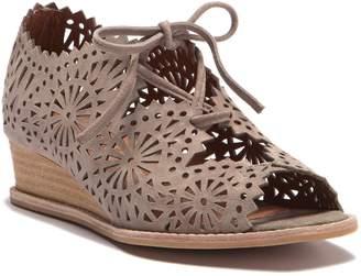 Jeffrey Campbell Espana Laser-Cut Wedge Lace Sandal