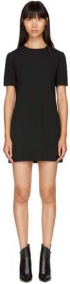 Saint Laurent Black Drape Dress