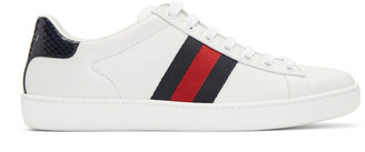 Gucci White Leather Stripe New Ace Sneakers $540 thestylecure.com