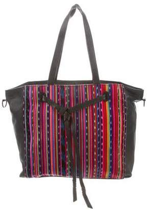 Rebecca Minkoff Patterned Leather-Trimmed Tote