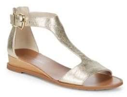 Kenneth Cole Jaddice Metallic Leather Sandals