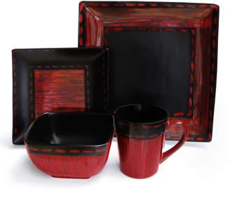 Jay Import Co Livingston 16-Piece Square Dinnerware Set