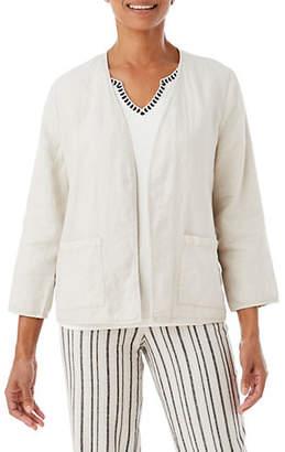 Olsen Open Front Linen Jacket