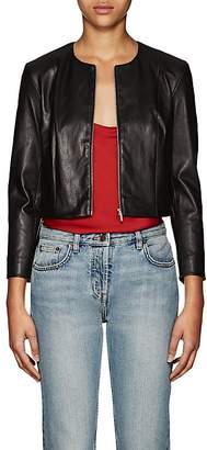The Row Women's Stanta Crop Leather Jacket