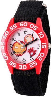 Marvel Emoji Boys Black Strap Watch-Wma000080