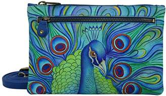 Anuschka Hand Painted Leather Women'S Organizer Wallet with Smart Phone Case