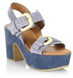 See by Chloe Denim Platform Sandals