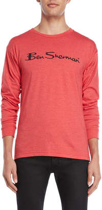Ben Sherman Script Logo Long Sleeve Tee