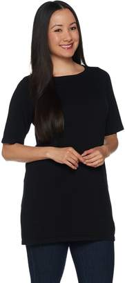 Joan Rivers Classics Collection Joan Rivers Sweater Knit Tunic with Elbow Sleeves