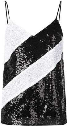 Prabal Gurung sequined sleeveless top
