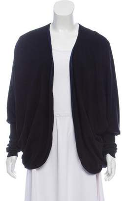 Eres Satin-Lined Open Front Cardigan