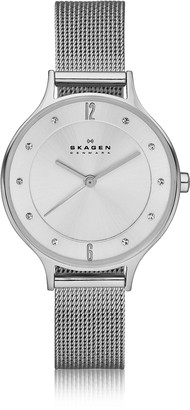 Skagen Anita Silvertone Stainless Steel Women's Watch w/Mesh Bracelet Band