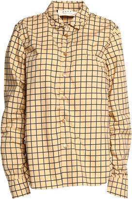 Marni Checked Cotton-poplin Shirt