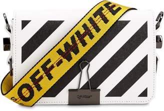 Off-White Mini Diagonal Striped Leather Bag