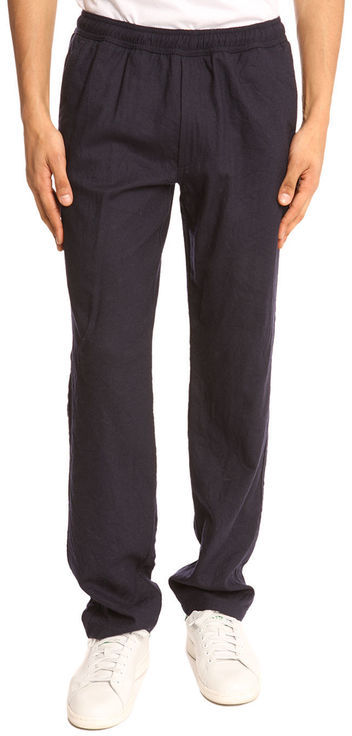 OUR LEGACY - Relax Crinkeld Navy Trousers