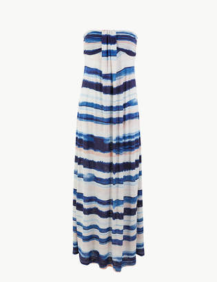 Marks and Spencer Water Stripe Jersey Maxi Beach Dress