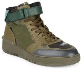 Valentino Camouflage High Top Sneakers