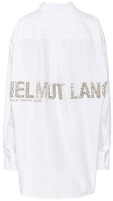 Helmut Lang Logo embellished cotton shirt