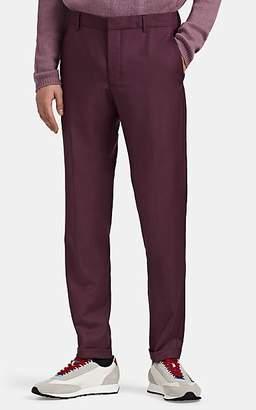 Prada Men's Amarena Worsted Wool-Blend Slim Trousers - Purple