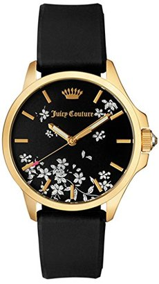 Juicy Couture Women's 1901344 Analog Display Quartz Black Watch $145 thestylecure.com